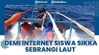 Siswa di Sikka Tempuh Perjalanan 5 Jam Seberangi Laut demi Akses Jaringan Internet dan Listrik