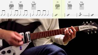 Guitar Score : Three Cool Cats (Rhythm Guitar) - The Beatles