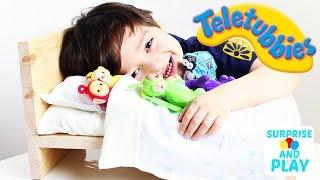 Teletubbies Toys Five Litte Monkeys Nursery Rhyme with Five Teletubbies