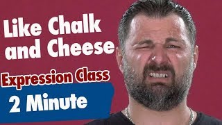 2-Minute Expression Class | Like Chalk And Cheese | Vaughan Tv