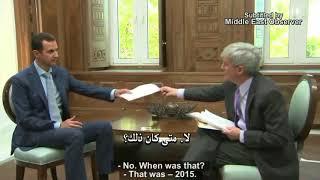 Президент Сирии – Башар Асад – отвечает на очень неудобные вопросы американского журналиста.