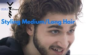 How To Easily Style Medium - Long Mens Hair (How To Slick Your Hair Back)