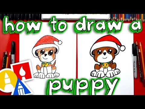 How To Draw A Christmas Puppy