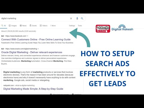 How to setup search ads effectively to get leads