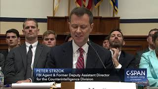 FBI Deputy Assistant Director Peter Strzok full opening statement (C-SPAN)