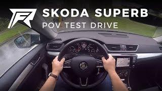 2017 Skoda Superb Combi 1.6 TDI - POV Test Drive (no Talking, Pure Driving)