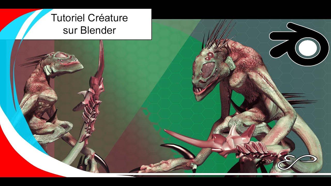 Blender Profiz tuto FR-Création de la créature-Partie 1-Niv. 3
