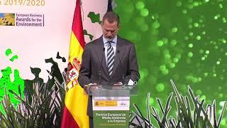 SM el Rey entrega los Premios Europeos de Medio Ambiente a la Empresa 2019/2020