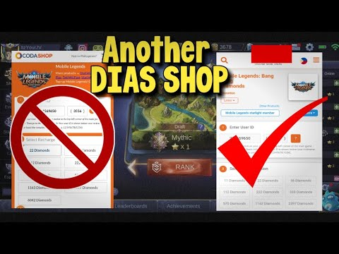 ANOTHER DIAS SHOP IN MOBILE LEGENDS! NOT CODASHOP