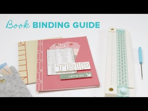 We R - Journal Book Binding Punch Guide, Kirjansidontaan