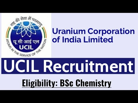 Uranium Coorporation of India|UCIL recruitment|BSc Chemistry|Graduate Trainee|Chemical|Online exam