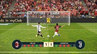 AC MILAN vs JUVENTUS FC | Penalty Shootout | Ronaldo VS Higuain | PES 2019 Gameplay PC