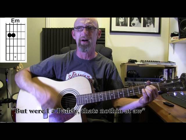 Erin Go Bragh - Scottish Folk Song. Acoustic guitar playalong/tutorial with chords and lyrics