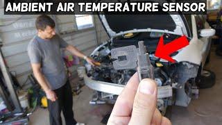 AMBIENT AIR TEMPERATURE SENSOR LOCATION REPLACEMENT DODGE DART