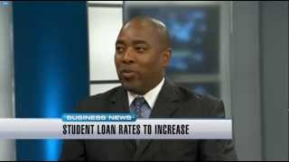 Martin A Smith Discussing Student Loan Interest Rates on News Channel 8