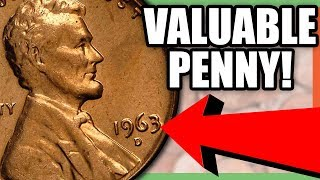 1963 LINCOLN PENNY WORTH MONEY - RARE PENNY COINS TO LOOK FOR!