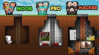 Minecraft Underground Family House Noob Vs Pro Vs Hacker Minecraftvideos Tv