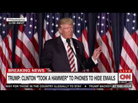 """Trump: Clinton's Mishandling Of Classified Material Makes Her """"Unfit To Be Our Commander And Chief."""""""