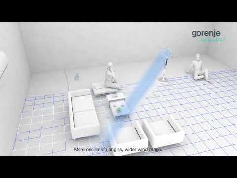 Полный видеообзор напольного вентилятора  GORENJE AIR 360 L