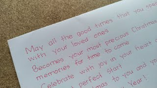 What to write in Christmas cards | Write beautiful Christmas wishes | Clean Handwriting | Christmas