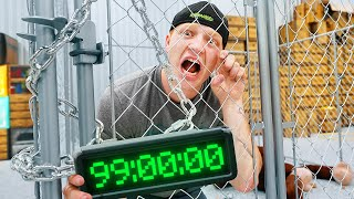 I Spent 100 Hours In The Strongest CAGE! Challenge