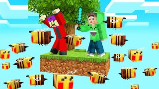 SKYBLOCK But STINGING BEES Are RISING! (Minecraft)