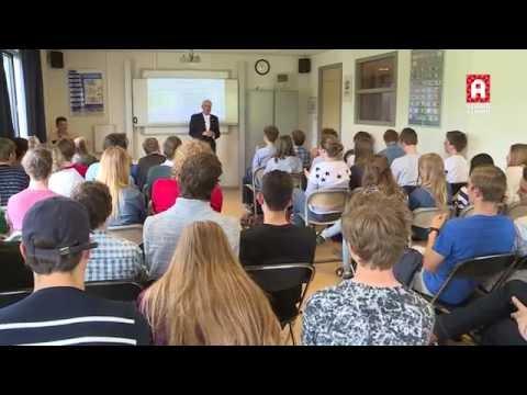 Rekenwonder Willem Bouman geeft gastcollege op Alphens Scala College