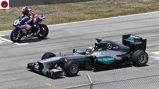 Car Racing LEWIS HAMILTON  F1 CAR vs YAMAHA R1M SUPERBIKE!!   - Car Racing 2017