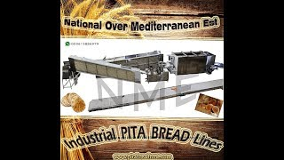 Automated 2 rows, Lebanese Pita & Arabic bread line , oven , NME Bakery Equipment 009613886979