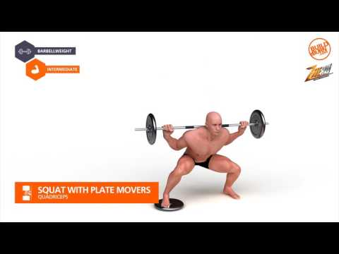 Quadriceps   Squat With Plate Movers