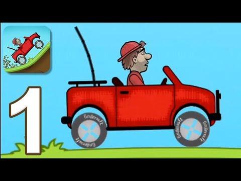 Hill Climb Racing – Gameplay Walkthrough Part 1 – Jeep (iOS, Android)