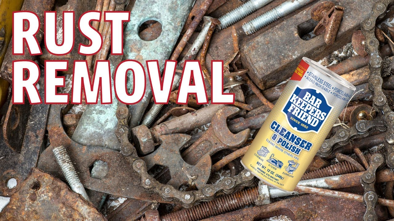 How To Remove Rust Stains - Bar Keepers Friend - YouTube