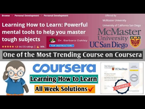 Coursera | Learning How to Learn | Most Trending ... - YouTube
