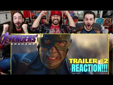 AVENGERS: ENDGAME - Official TRAILER #2 - REACTION!!! (видео)