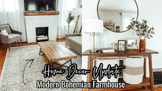HOME DECOR UPDATE | MODERN BOHEMIAN FARMHOUSE