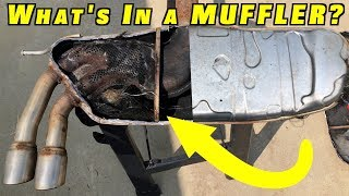 What is Inside A Car's Muffler and Catalytic Converter?