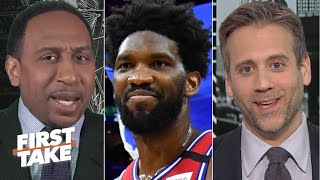 Stephen A. Smith and Max Kellerman react to Joel Embiid and the Philadelphia 76ers defeating the LA Clippers 110-103 at home.  #FirstTake #NBA ✔ Subscribe to ESPN+ https://plus.espn.com/ ✔ Get the ESPN App: http://www.espn.com/espn/apps/espn ✔ Subscribe to ESPN on YouTube: http://es.pn/SUBSCRIBEtoYOUTUBE ✔ Subscribe to ESPN FC on YouTube: http://bit.ly/SUBSCRIBEtoESPNFC ✔ Subscribe to NBA on ESPN on YouTube: http://bit.ly/SUBSCRIBEtoNBAonESPN ✔ Watch ESPN on YouTube TV: http://es.pn/YouTubeTV  Exclusive interviews with Rachel Nichols https://urlzs.com/jNURe Stephen A. Smith on ESPN https://urlzs.com/W19Tz  ESPN on Social Media: ► Follow on Twitter: http://www.twitter.com/espn ► Like on Facebook: http://www.facebook.com/espn ► Follow on Instagram: www.instagram.com/f/espn  Visit ESPN on YouTube to get up-to-the-minute sports news coverage, scores, highlights and commentary for NFL, NHL, MLB, NBA, College Football, NCAA Basketball, soccer and more.   More on ESPN.com: https://www.espn.com