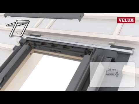 Installation of VELUX roof windows with an EDW flashing (GLL)