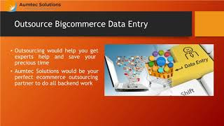 BigCommerce Data Management and Product Listing Services