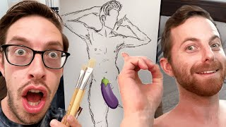 The Try Guys Draw Nude Self Portraits