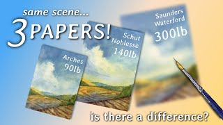 Is 300lb Watercolor Paper Worth It? Same Scene, Different Papers!