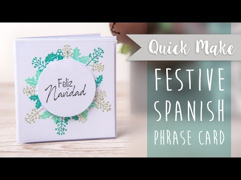 Festive Phrases Card- Sizzix
