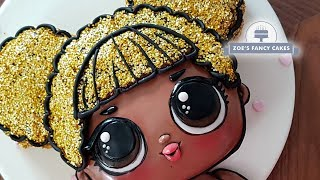 LOL doll cake Queen Bee | Lil Outrageous Littles Cake collaboration