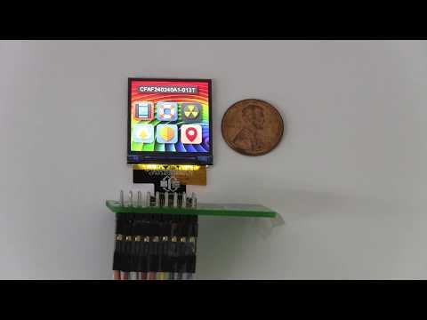 """High Density 240x240 1.3"""" TFT LCD"""