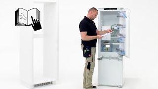 How to install your AEG door on door fridge / freezer