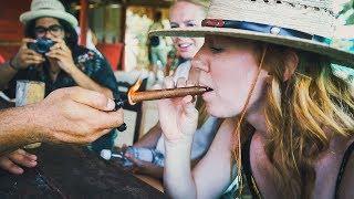 Cuban Cigars - SHE ACTUALLY SMOKED IT!! - (Cuba Vlog Day 5)