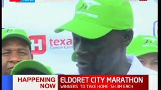 Governor Jackson Mandago at the Eldoret city marathon