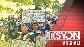 Mga rider ng Angkas, nagprotesta sa Korte Suprema