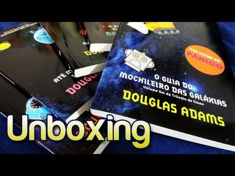 Unboxing da coleção Guia do Mochileiro das Galáxias