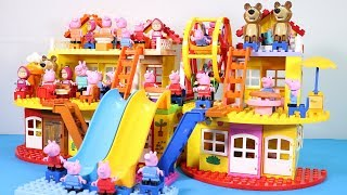 Peppa Pig House Creations With Water Slide Toys - Lego House Toys For Kids #8